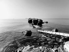 Idk pt 7392 (graziano98pucci) Tags: italy see mediterraneo mare scala lungomare taranto scogli scogliera apulia cristallino