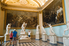 Visitors and Residents at the Uffizi Galleries (UrbanphotoZ) Tags: camera horses italy sculpture court florence paintings cellphone dramatic statues battle queen soldiers carnage firenze visitors poses uffizigalleries