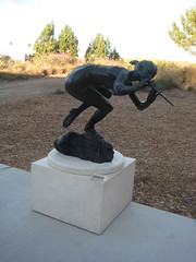 The Flautist, 2001. (goldiesguy) Tags: sculpture music statue bronze outdoors artwork statues sculptures goldiesguy