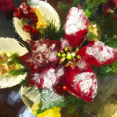 a Christmas color splash (Pejasar) Tags: christmas holiday color beauty blessing cheer splash tabledecor