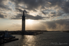 (GenJapan1986) Tags: travel sea sky sun tower japan landscape      akita  2015  seaofjapan       nikond610