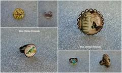 Bijuteria feita por mim (Dora Cristina Fernandes) Tags: handmade brooch feitoàmão artesanal jewelry bijoux bijuteria crafty acessories manualidades acessórios pregadeiras anéis alfinetes bijuteriaartesanal
