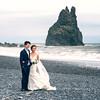 Just Married! (deborahmoynihan) Tags: wedding marriage iceland vik reynisfjara beach waves sea travel travelphotography dress outdoor portrait couple love romance
