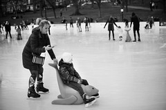 """ice skating - lol"" (votsek) Tags: 2016 westend frogpond bostoncommon boston nikond750 ice skating people pond winter sport cold phone handheld texting"