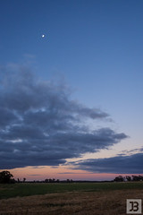 Moon over Clouds (Joel Bramley) Tags: moon sunset clouds landscape nature lunar night