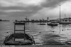 Ortona - Il Porto_2016_1 (Roman_77) Tags: paesaggio ortona porto biancoenero bianconero blackandwhite blackwhite autunno mare sea boat barche barca nave chieti abruzzo italia landscape nikon d750 roman77