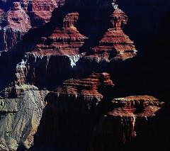 Probing the eternity (Robyn Hooz) Tags: usa arizona grandcanyon 2012 geology light sunrise south rim bord sud wafer ombra shadow luce geologia