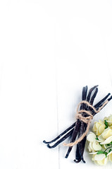 The fragrant vanilla isolated (lyule4ik) Tags: vanilla isolated white fragrant flower bean pod stick dessert brown aroma black background cooking food natural spice sweet flavor dark sugar ingredient fresh nature nutmeg two aromatic perfume eat tasty gourmet exotic rare herbal organic pastry wood delicious extract seasoning custard bitter herb scent baking taste bundle scented cream fruit