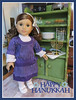 Happy Hanukkah! (Foxy Belle) Tags: american girl dollhouse doll diorama hanukkah 14 scale holiday kitchen food dishes thrift store jewish ag rebecca rubin miniature