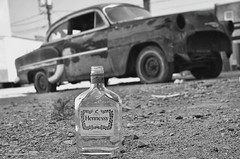 Rock and Roll (gregador) Tags: erie pa hennessy rockandroll chevy belair basementtransmissions abandoned blackandwhite