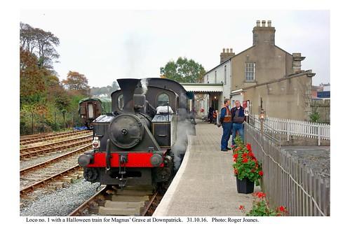 Downpatrick. No. 1 & train for Magnus' Grave. 31.10.16
