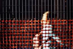 Strati (]alice[) Tags: a1 canon canona1 film filmisnotdead filmphotography bologna emiliaromagna italia italy persona person passante passeggiare passenger stranger sconosciuto cantiere reterossa rete web buildingarea viazamboni layers strati