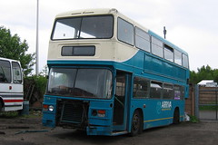ARRIVA NORTH EAST 7214 WDC214Y IS SEEN AT ALAN DIXON'S SCRAPYARD IN ANNFIELD PLAIN (47413PART2) Tags: wdc214y scrap arrivanortheast