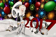 - Look 724 - Happy New Year!! Feliz Ano Novo!! (aisha.cahir ✿ {Blogger}) Tags: yokai secondlife hair mello crazykitty newyear kawaii ninieyes sanarae boot outfit jaqueta penguins pinguim gacha balloon theprojectse7en 2017 pose ck