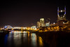 The AT&T Building and The Pinnacle Building (donnieking1811) Tags: tennessee nashville architecture building buildings bridge bridges river rivers night nightime outdoors attbuilding pinnaclebuilding cumberlandriver canon 60d