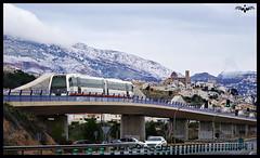 Frío en Altea (lagunadani) Tags: paisaje nieve altea sierradebernia viaducto puente fgv tram 2500 mediterráneo amanecer montañas serra pueblo alicante sonya7