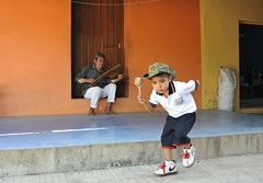 Mixtec Dance Oaxaca Coast Mexico (Ilhuicamina) Tags: children oaxacan mexican costa mixtec dances music musician people gente