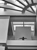 embracing the view (jimATL (weltreisender2000)) Tags: man silhouette balcony richardmeier architecture atrium art museum atlanta bw blackandwhite explored