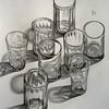 Индустрия-1 (ПЯТНИЦКАЯ) Tags: индустрия рюмки рюмка натюрморт стекло графика графит карандаш graphic pencil glass coquetier stillife industry