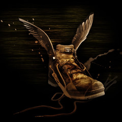 My flying boots (A.B. Art) Tags: shoe schuh boot stiefel flügel wings postprocessed photoshop photomontage fotomontage nachbearbeitet