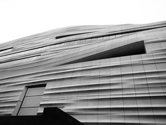 Abstract Building Exterior (shaire productions) Tags: sfmoma museum image picture artistic imagery photo photograph grayscale monotone monochrome bw bnw blackandwhite architecture architectural abstraction abstract shapes geometry geometric
