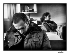 Power nap in the office (Artico7) Tags: colleagues sik ill flu fever office nap monochrome sony z2 powernap virus contamined resting sleeping weak bw blackwhite blackandwhite biancoenero influenza ammalati pisolino ufficio lavoro coold rocker galletto