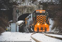Hickory Tunnel (benpsut) Tags: 218 avella emd emdsd403 hickorysiding rooksub tiger wle wlerooksub we218 we4018 we6989 we6992 wheelingandlakeerie wheelingandlakeerierooksub railroad tanks trains trestle tunnel