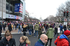 In Front of the Newseum (railsnroots) Tags: demonstrations first amendment womens march protest signs
