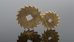 Together... (Hans Kool) Tags: gear gears tandwiel tandwielen two twee duo watchmaker horloge klok clock time tijd watch horlogemaker inheritance reflection reflectie