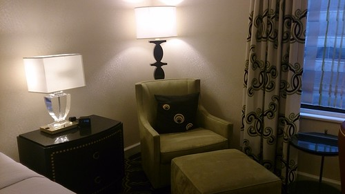 Sitting Chair and Ottoman at the Palmer House Hilton