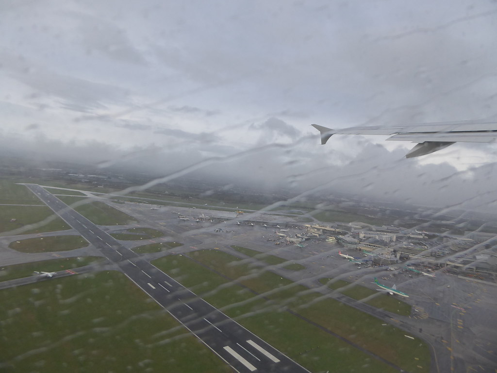 Image result for dublin airport from a plane window rain