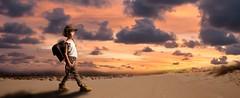 El Principito (Dani_vr) Tags: niños kids child children nenos nenes sunset dunas puestadesol nubes clouds