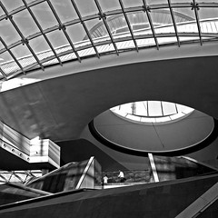 lost in geometry (Maryam Arif) Tags: blackwhite perspective composition monochrome light shadow structure architecture angle contrast contemporary geometry gradient graphic window maryamarif photography fineart visualart perception observation shadows levels lines glass thought time