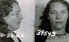 Rita Barnes (Midnight Believer) Tags: mugshot criminal crime vice booking police jail inmate retro 1940s arrest