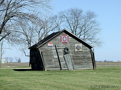 Leaning Left (Picsnapper1212) Tags: old woodenshed farm gravity southernohio ohio scene wooden shed