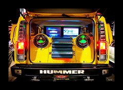 one noisy hummer... (Stu Bo) Tags: hummer beatbox loud sbimageworks carshow truck colorful colors music vivid boom
