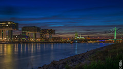 the  blue beauty Cologne (Renate Bomm) Tags: cologne blue rhein kranhuser langzeitbelichtung kln noche night illumination somethingblue renatebomm felana colonia nrw klnerdom longexposer bluehour blau blauestunde cranehouses gebude architektur heimatstadt heimat thegoldengallary goldengallary ligths golden oro dusk dmmerung weather flickrunitedaward coloursoftheworld beautifulcapture goldenvisions visiongroup thegoldendreams