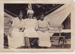 Chef and two women (bootpainter) Tags: 1920s bootpainter