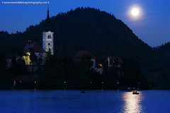 Supermoon over bled Island Church (Ian Middleton: Photography) Tags: travel summer vacation lake holiday building tower history tourism church water beautiful architecture clouds religious island evening scenery europe european bell dusk famous scenic eu august tourist architectural historic christian fullmoon slovenia touristy stunning bled former christianity popular yugoslavia attraction eec totality slovenian 2015 slovene gorenjska slavic perigee supermoon steeplespire