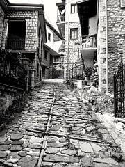 Metsovo, Ioannina, Greece. (fil_____) Tags: blackandwhite vintage alley village outdoor greece ioannina epirus metsovo ελλαδα ασπρομαυρο ιωαννινα ηπειροσ μετσοβο
