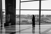 Take a look (jprwpics) Tags: blackandwhite bw woman window silhouette airplane airport looking view muslim amman aeroplane traveller jordan passenger queenaliaairport