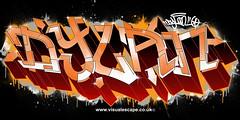 Dylan   Custom Graffiti Illustration (www.visualescape.co.uk) Tags: orange dylan graffiti letters digitalgraffiti customart graffitiillustration