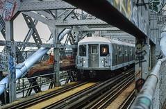 J-Train crossing the Williamsburg Bridge (1 of 2) (gg1electrice60) Tags: nyc newyorkcity bridge architecture brooklyn subway manhattan tracks structure boardwalk mta newyorkstate jtrain nyta bmt cityofnewyork thirdrail subwaycars pedestrianwalkway metropolitantransitauthority r42 boroughofbrooklyn williamsburgebridge newyorktransitauthority brooklyncounty
