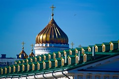 RUSIA - IGLESIA DEL SALVADOR. (Miguel GLR) Tags: travel roof summer green church architecture arquitectura europe russia geometry moscow rusia simetra mosc