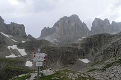 Cima Canali, widok z Bivac Minazio