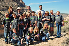 Caliente Elementary School 4th grade students (BLM Nevada) Tags: outdoors nevada recreation teaching blm getoutside sloancanyon nationalpubliclandsday npld conservaton blmnevada