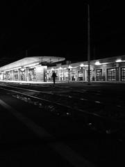 Station (fotofonino) Tags: blackandwhite monochrome station train track viaggi biancoenero treni stazioni monocromatico