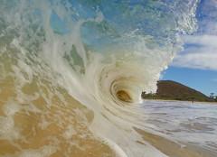 morning fun (bluewavechris) Tags: ocean park sea beach water hawaii surf hill tube barrel wave maui crater foam lip curl puu swell makena shorebreak bigbeach knekt gopro oneloa