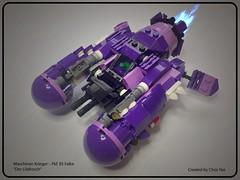 Maschinen Krieger – Pkf. 85 Falke (Drthresh) Tags: lego spaceship mak krieger moc falke starfighter maschinen frogspace mixels