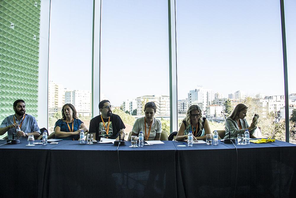 Blogueiros palestrantes compenetrados